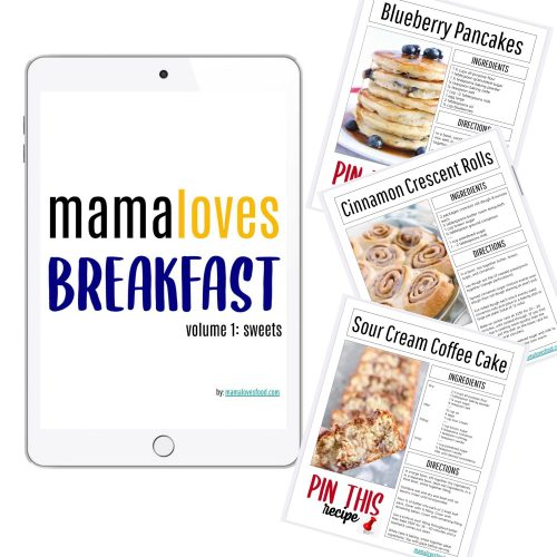 PICTURE OF MAMA LOVES BREAKFAST EBOOK MOCKED UP ON IPAD