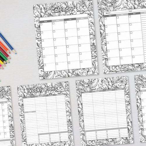 Coloring Calendars